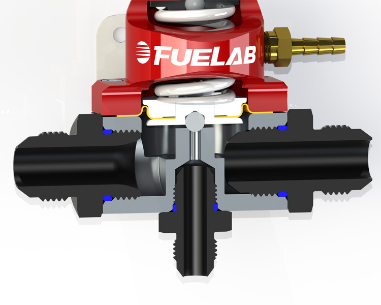 Regulator with Fittings R fuel line size vs pressure drop